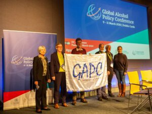 GAPC handing over from 2020 to 2021 Cape Town, Sally Casswell, Denise Keogh, Joe Barry, Charles Parry, Maurice Smithers, Mandy Solomon,