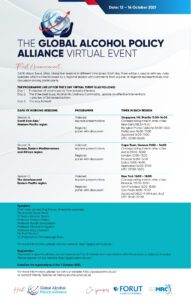 Global Alcohol Policy Alliance Virtual Event announcement